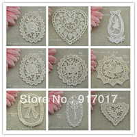 Free Shipping 90pcs Mixed (each 10pcs) (LCSM34B)White Embroidery Flower Applique Wedding Accessories Bridal Veil Lace