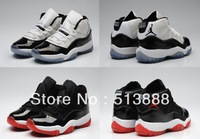 Free shipping bred retro 11 basketball shoes for women and men j11 trainers athletic shoes size:36-40
