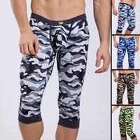 Underwear male network legging personalized ultrafine modal knee-length pants pajama pants multicolour wj7109