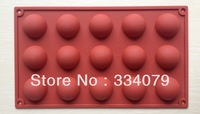 Free shipping 1PCS Circle type Muffin Sweet Candy Jelly Ice Silicone Mould Chocolate Molds