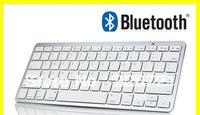 Bluetooth Wireless White Keyboard for PC Macbook Mac ipad 2 iphone 8371 Free shipping