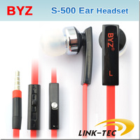 Genuine BYZ noodles Earphones S500 In ear headset FOR Samsung HTC Huawei, ZTE Lenovo Xiaomi smart phone free shipping