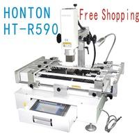 Free shipping HT-R590 Touch Screen 3 Zones, bga welding machine ICS-5630 upgraded version BGA Rework Station 220V white