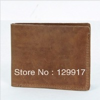 Leather handmade wallet male wallet crazy horse leather horizontal genuine leather casual
