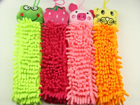 2014 new free shipping 10pcs Chenille fabric lovely Cartoon Hand towel towels  Cute Animal cleaning  Kitchen Bathroom Office