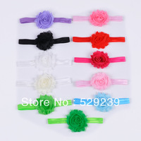 Free Shipping Factory Direct Boutique shabby flower headbands,50 pcs/lot