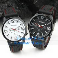 2013 Fashion Silicone Band Aviator Pilot Army Military Watch Men Boy Outdoor Sport Racing Quartz Watches 1Pcs Free Shipping