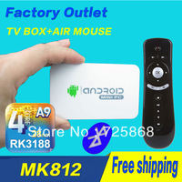 MK812A miracast Bluetooth Version   rk3188 quad core mini PC android TV box stick dongle Air mouse T2  XBMC DLNA built-in camera