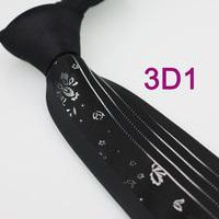 Coachella Men's ties Black Knot Contrast White Stripes/Florals Normal Woven Necktie Formal Neck Tie for men dress shirts Wedding