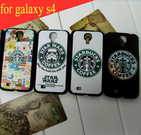 high quality coloured drawing case For Samsung Galaxy s4 case luxury I9500 Starbucks coffee  case Free shipping
