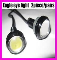Free shipping high power 3w IP68 eagle eye lamp 3rd Gen with Screw led car reversing light led daytime running light