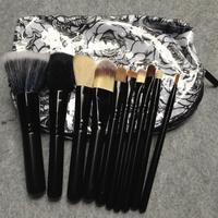 [HZSZ-009] Pro. Travel NEW 10 PCS Makeup Brush Cosmetic Brushes Set Kits & 2 Waterproof case + Free Shipping