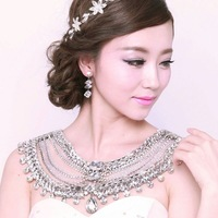 New Arrival Bride Wedding Ultra Luxury necklace rhinestone shoulder strap crystal jewelry