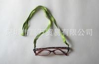 Spectacle NECK CORD Strap Reading Glasses Chain Suede / Leather Look Green wholesale Can print logo
