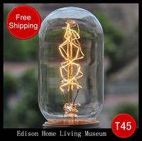 Free shipping Free shipping Incandescent lamp antique light bulbs vintage light bulb silk light bulb Edison light bulb