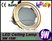 High Brightness LED Light Ceilling lamp light 3W Black/Golden/Silver 85~265V  Ceiling light 2 Pcs Mini Sales