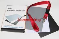 18% 3 in 1 Grey White Black Gray Balance Cards Card for canon nikon pentax camera