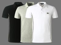 2014 fashion summer high fashion men cotton t-shirt men's short sleeve shirts designer brand casual dress free shipping!