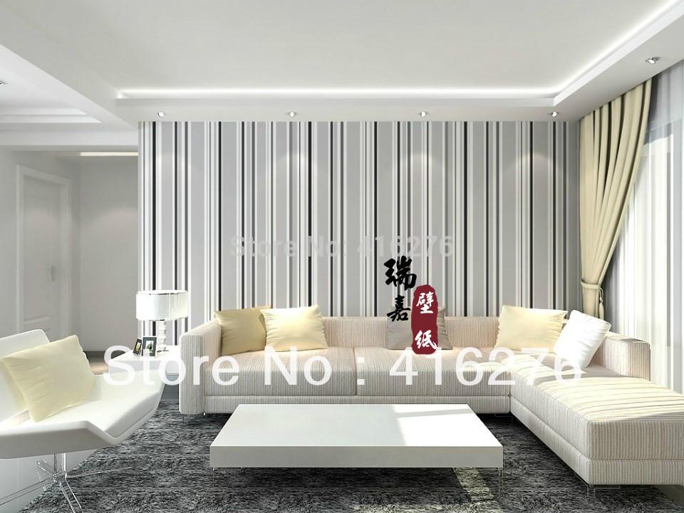 Promoci n de rayas verticales papel pintado compra rayas - Papel pared rayas verticales ...