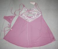 Sexy plus size pajamas Sexy pink underwear white lace mesh baby dolls Ladies lingries women underwear G string Y8