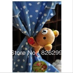 Free shipping San-x Rilakkuma easily bear plush toy doll curtains