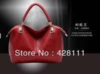 2013 genuine leather women's handbag cowhide women's shoulder handbag messenger bag fashion bag