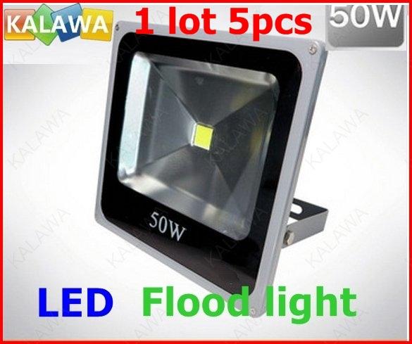 1 Lot 5pcs 50W !! Compact shape Spot light / Spotlights High Power LED flood light IP 66 110v 220V White / Red / Green FFF(China (Mainland))
