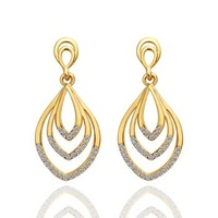 18K Gold Plated Earrings High Quality Rhinestone Crystal Fashion Jewelry Wholesale Free Shipping 18KGP E430