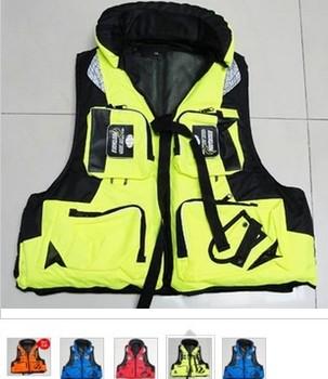 High Quality Customize lqx007 auto inflate life jacket grey multifunctional multi-pocket life jackets for kayaking
