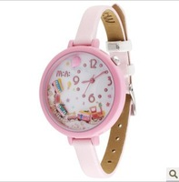 Free shipping 2013 new hot cute cartoon watches Korean MINI waterproof jelly train  female watches H334