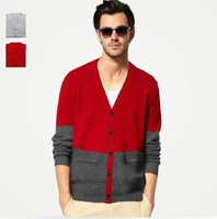 cardigan free shipping 2013 new slim fit casaco sweaters for men pullover male bolsas knitwea casacos multi-color