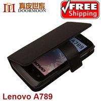 4 color Doormoon Lenovo a789 mobile phone case,really leather case for lenovo a789,free screen protector