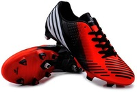 Men's gel nails football shoes Meysey F50 leather training shoes Men soccer cleats shoes,Black/Red/Blue/Green,free shipping