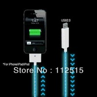 USB Data Cable,LED Light For iphone4,4S,iPad,iPod,Cooler At Night, Free Shipping