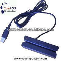 3 tracks MSR/USB Swipe magnetic card reader+MSR606/MSR206