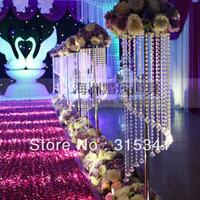 Free shipping 10pcs/lots/ acrylic crystal wedding lead road/ 120cm tall/22cm diameter/item No.OUGE-0014