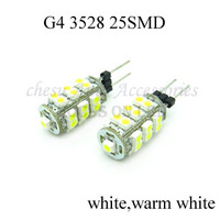 100 pcs G4 3528 25SMD home reading Light Marine Boat Lamps white Warm White led light bulbs in free shipping