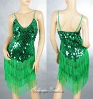2013 Latest New Ladies Night Club Cocktail Party Latin&Ballroom Dance Sequin Fringe City Training Dress 1256
