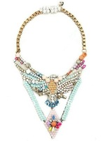 Shourouk eagle crystal statement necklace high quality fashion vintage design fashion accessories rainbow color jewelry 2013