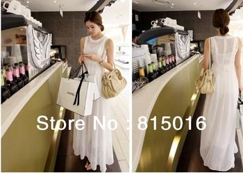 Free shipping 2013 fashion sexy dress,Chiffon long dress elegant solid long dress women Maxi Dresses origin from China