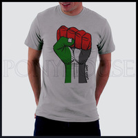 Fist PALESTINE Palestinian men short sleeve T-shirt new arrival Fashion Brand t shirt for men 2013 summer