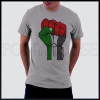 Fist PALESTINE Palestinian men short sleeve T-shirt new arrival Fashion Brand t shirt for men 2013 summer
