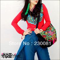 2013 New Designer Handbag Brand Women Bag Embrodered Canvas Bag Ethnic Style Tactical Retro Party Ladies Handbag