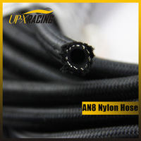 AN8 auto Nylon fuel  braided black hose car hose braided nylon hose