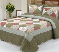 American style ruffle hem rustic patchwork quilting by piece set bed cover air conditioning summer is cool 100% cotton thin