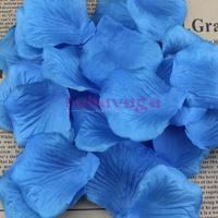 1000pcs/lot Turquoise Silk Rose Petals Table Confetti Flower Decoration Engagement Wedding Celebration Free shipping
