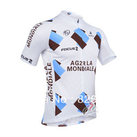 Free Shipping 2013 new ag2r Cycling Jersey shorts Sleeve Monton Cycling Team J7012349