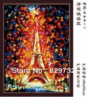 JIUJIU DIY digital oil painting Free shipping the picture unique gift home decoration 40X50cm Love Eiffel paint by number