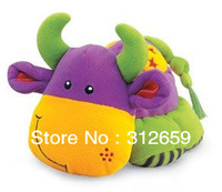 New Stuffied Animal Toys Early Development Educationnal Sounding Cow Dog Elephant ... Design Soft Toys 10 pcs/lot