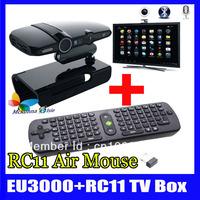 10Pcs/lot=5Pcs HD2/EU3000 Android 4.2 Dual Core MINI PC 5.0Mp Camera 8GB ROM IPTV Stick/Box/Player+5Pcs Measy RC11 Fly Air Mouse